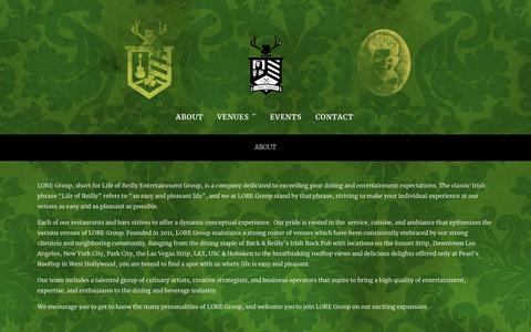 Screenshot of About Page loregrp.com - About – LORE Group - captured Sept. 25, 2018