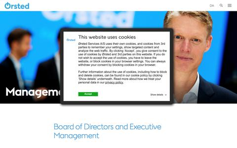 Screenshot of Team Page orsted.com - Management - captured Oct. 20, 2018