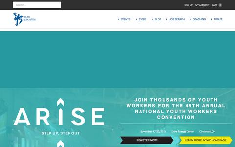 Screenshot of Home Page youthspecialties.com - Youth Specialties | All About Youth Ministry - captured Aug. 18, 2016