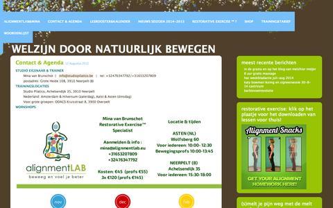 Screenshot of Contact Page wordpress.com - Contact & agenda | Welzijn door natuurlijk bewegen - captured Nov. 5, 2014