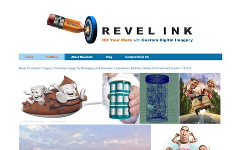 Screenshot of Home Page revel-ink.com - Custom Digital Imagery for Promotional, Editorial and Social - captured Aug. 14, 2016