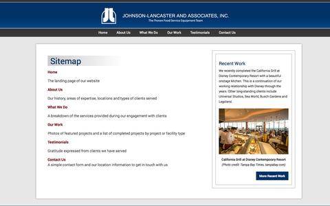 Screenshot of Site Map Page johnson-lancaster.com - Sitemap | Johnson-Lancaster and Associates - captured Oct. 4, 2014