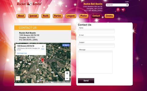 Screenshot of Signup Page rockinrollbowlin.com - Contact Us | Rockin Roll Bowlin - captured Oct. 21, 2018