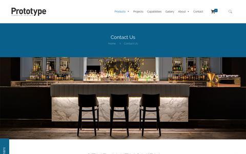 Screenshot of Contact Page prototype.net.au - Contact Prototype Commercial Furniture   Prototype - captured Sept. 19, 2017