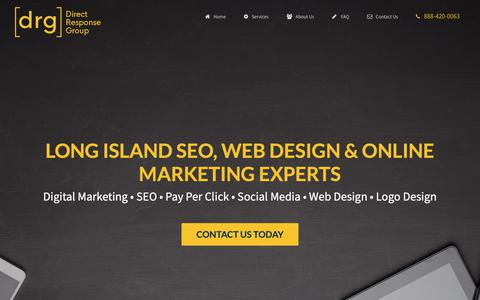 Screenshot of Home Page Privacy Page directresponsegroup.com - Long Island SEO & Web Design | Long Island Advertising Agency - captured Nov. 14, 2018