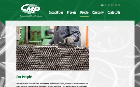 Screenshot of Team Page cmpubolt.com - People - Consolidated Metal Products - captured Nov. 11, 2016