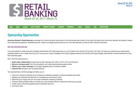 Sponsorship Opportunities | Retail Banking Conference
