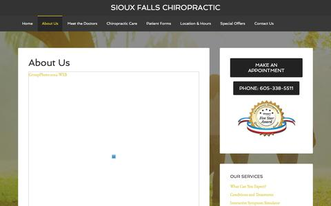Screenshot of About Page siouxfallschiro.com - About Us | Sioux Falls Chiropractic - captured Feb. 14, 2016