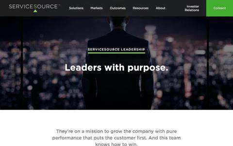 Screenshot of Team Page servicesource.com - Leadership - ServiceSource - captured Jan. 11, 2018
