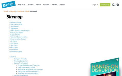 Sitemap - Palo Alto Networks