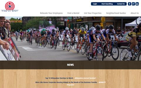 Screenshot of Press Page findmyspotinc.com - News | Find My Spot - captured Oct. 6, 2014