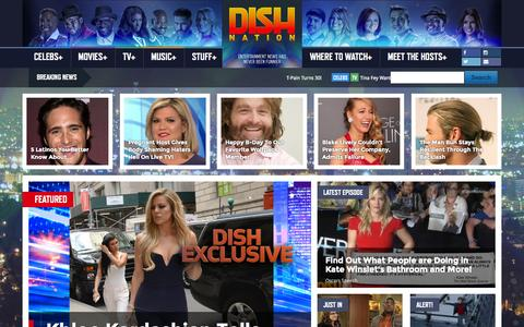 Screenshot of Home Page dishnation.com - Home - Dish Nation - captured Oct. 1, 2015