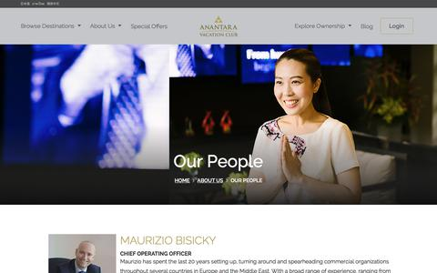 Screenshot of Team Page anantaravacationclub.com - Our People | Anantara Vacation Club - captured July 30, 2018