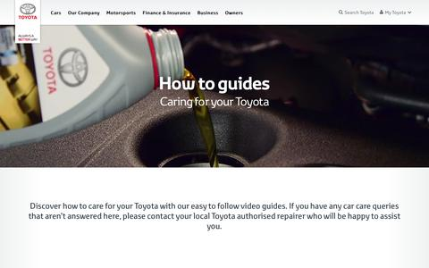 How to care for your car - Toyota Europe