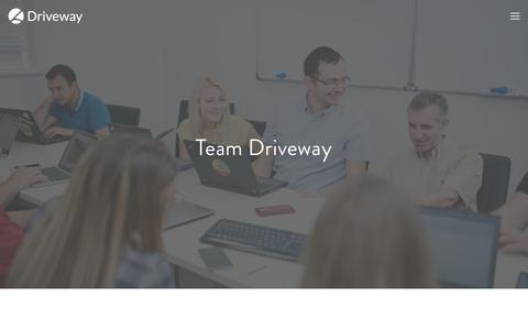 Screenshot of Team Page driveway.ai - Team — Driveway - captured March 18, 2018