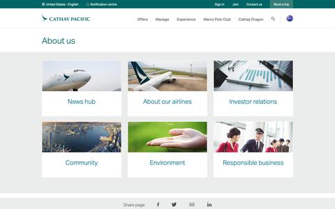 Screenshot of About Page cathaypacific.com - About us - captured March 24, 2019