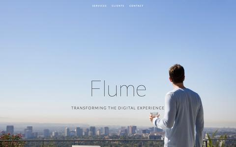 Screenshot of Home Page flumedigital.com - Flume Flume Digital - captured Aug. 3, 2015