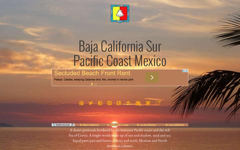 Screenshot of Home Page baja-sur.com - Baja California Sur | Mexico's Pacific Peninsula - captured March 13, 2016