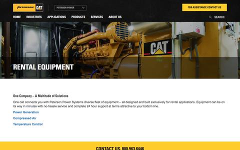 Rental Equipment | Peterson Power