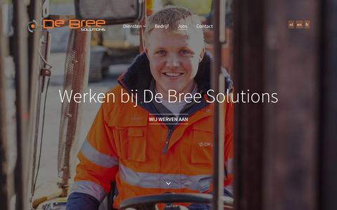 Screenshot of Jobs Page debree.be - De Bree solutions | Werken bij De Bree Solutions, wij werven aan! - captured Oct. 5, 2014