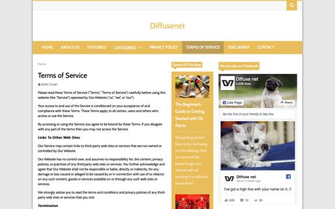 Screenshot of Terms Page diffusenet.com - Terms of Service   Diffusenet - captured Oct. 9, 2018