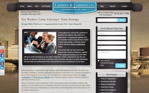Screenshot of Team Page larrimer.com - Ohio Workers Compensation Laws Legal Team Strategy - captured Jan. 25, 2016