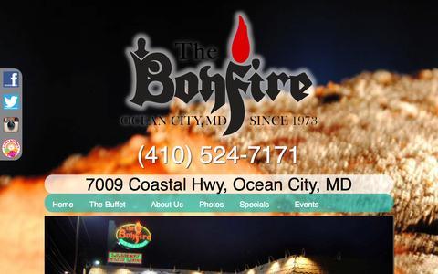 Screenshot of About Page thebonfirerestaurant.com - About Us   The Bonfire Restaurant - captured Oct. 26, 2014