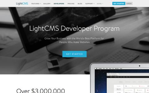 Screenshot of Developers Page lightcms.com - The Website Builder and Website Platform for Developers | LightCMS - captured Nov. 18, 2015