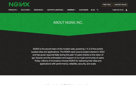 Screenshot of About Page nginx.com - Company - NGINX - captured Nov. 17, 2015