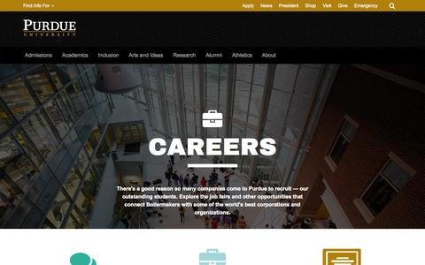 Screenshot of Jobs Page purdue.edu - Careers, Career Opportunities - Purdue University - captured Oct. 1, 2015
