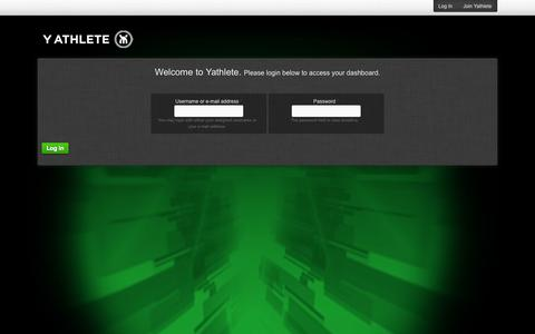 Screenshot of Login Page yathlete.com - User login | yathlete - captured Sept. 30, 2014