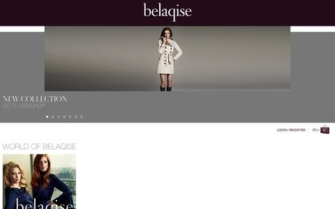 Screenshot of Home Page belaqise.com - Belaqise Couture Innovant - captured Sept. 30, 2014