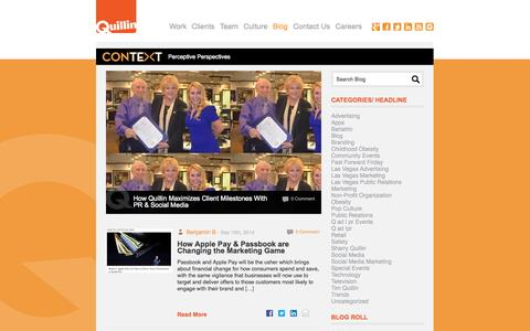 Screenshot of Blog quillinlv.com - Blog - Quillin - captured Oct. 3, 2014