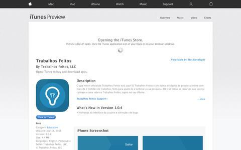 Screenshot of iOS App Page apple.com - Trabalhos Feitos on the App Store - captured Nov. 25, 2015