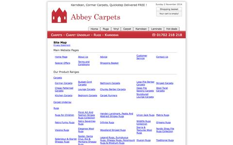 Screenshot of Site Map Page abbey-carpets.co.uk - Site Map : Abbey Carpets - captured Nov. 2, 2014