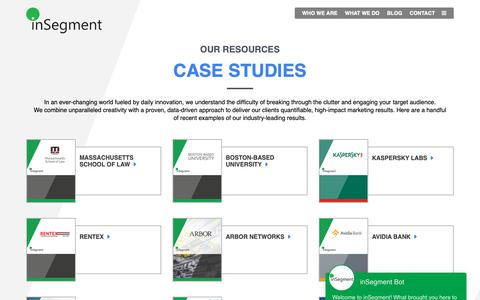 Screenshot of Case Studies Page insegment.com - Case Studies - inSegment Boston Digital Marketing Agency - captured May 16, 2019
