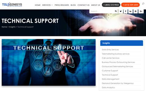 Screenshot of Trial Page Support Page telegenisys.com - Technical Customer Support | Telegenisys Inc USA - captured March 26, 2018