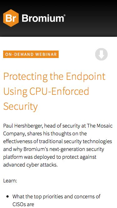 Protecting the Endpoint Using CPU-Enforced Security