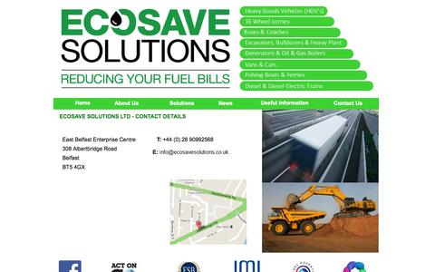 Screenshot of Contact Page ecosavesolutions.co.uk - Ecosave Solutions - Reducing Your Fuel Bills - captured Oct. 2, 2014