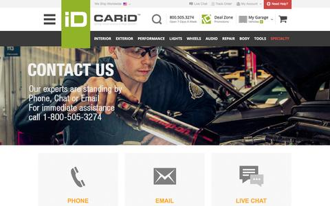 Screenshot of Contact Page carid.com - CARiD.com - CONTACT US - captured Dec. 3, 2015