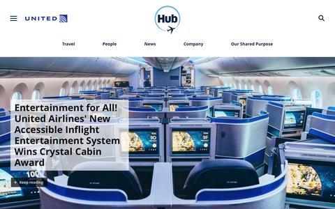 Screenshot of Press Page united.com - United Hub - Newsroom - captured April 24, 2019