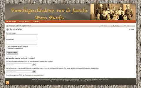 Screenshot of Login Page wyns-buedts.be - Aanmelden: wyns-buedts.be - captured Oct. 28, 2018