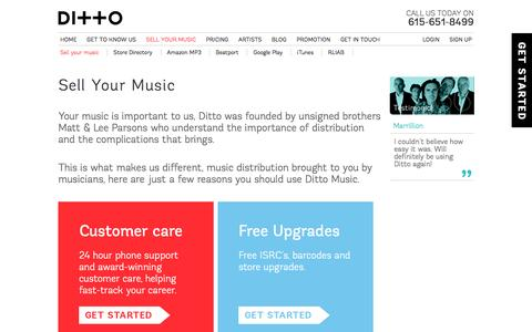 Sell Your Music on Over 100 Stores Worldwide | Ditto Music