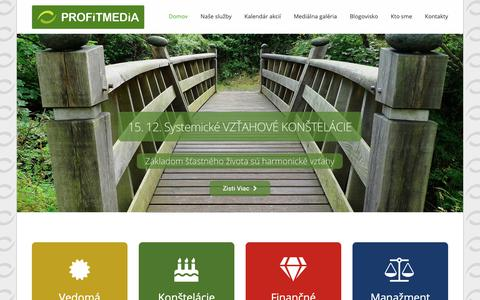 Screenshot of Home Page profitmedia.sk - ProfitMedia - Hlavná stránka - captured Dec. 8, 2018