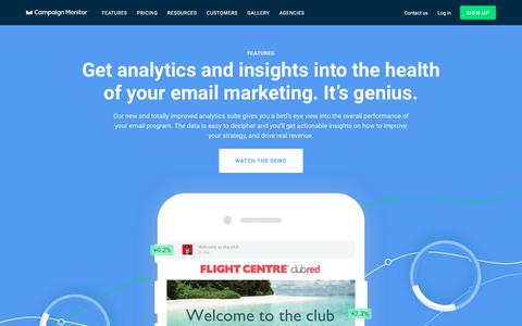 Features: Email Analytics & Insights | Campaign Monitor