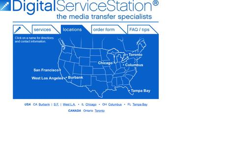 Screenshot of Locations Page digitalservicestation.com - Locations | Digital Service Station - captured Sept. 30, 2014