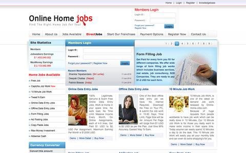 Screenshot of Home Page Signup Page online-home-jobs.com - Data Entry, Data Entry Jobs, Home Based Jobs, Work At Home Jobs, Online / Offline Data Entry, Internet Jobs, Online Paid Jobs - captured Jan. 17, 2016