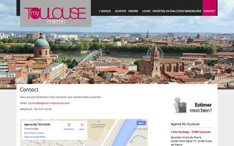 Screenshot of Contact Page agence-mytoulouse.com - Contact | Agence My Toulouse - captured Sept. 30, 2014