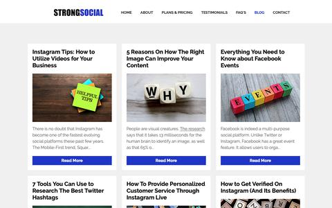Screenshot of Blog strong-social.com - Social Media Blog - Strong Social - captured Oct. 20, 2018