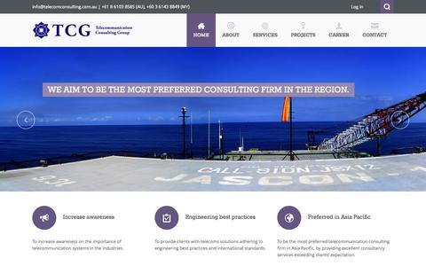 Screenshot of Home Page telecomconsulting.com.au - Telecommunication Consulting Group - captured Oct. 8, 2014